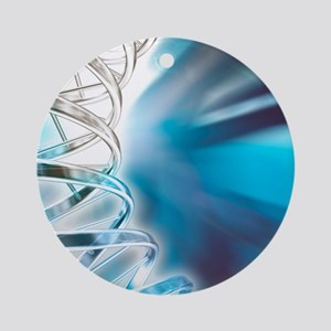 DNA molecule, artwork Round Ornament